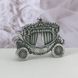Pewter Coach Place Card Stand