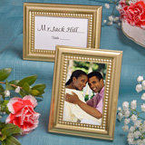 Beaded Design Gold Place Card/Photo Frames