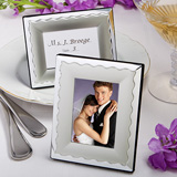 Two-Tone Silver Metal Place Card/Photo Frames
