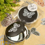 <em>Elegant Reflections Collection</em> Butterfly  Mirror Compact Favors