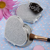 Classy Compacts Collection Heart Design Metal Compact Favors