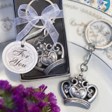 <em>Royal  Favor Collection</em> Crown Design Key Ring Favors