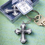 Cross Design Keychain Favors from fashioncraft