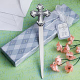 Cross Design Letter Opener Baptism Favors