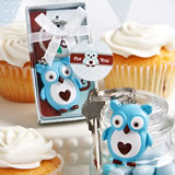 Cute little blue owl key chain favors