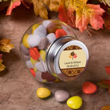 Personalized Glass Jar - Fall Themed