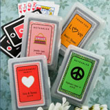 <em>Sweet Sixteen Themed Personalized Playing Cards</em>