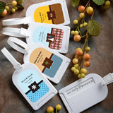 Fall/Autumn Personalized Expressions Collection luggage tag favors