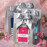 "Silver ""Delivered with Love"" boxes from the <em>Personalized Expressions Collection</em>"