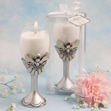 Memorial Angel Design Champagne Flute Candle Holders