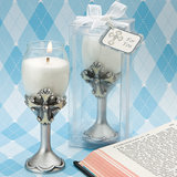Cross Design Champagne Flute Baptism Candles