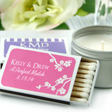 Personalized Wedding Matchboxes - White Box (Set of 50)