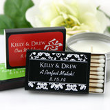 Personalized Wedding Matchboxes - Black Box (Set of 50)