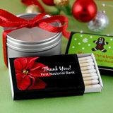 Personalized Holiday Matchboxes - Black Box (Set of 50)