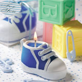 Blue Baby Bootie/Sneaker Design Candle