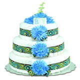 Baby Diaper Cake: Blue Mums (2 or 3 Tiers)