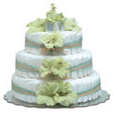 Baby Diaper Cake: Mint Green Gladiolas (2 or 3 Tiers)