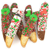 Christmas Dipped & Decorated Biscotti