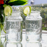 Mr. & Mrs. 26oz. Ball Jar Set