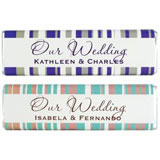 Wedding Chocolate Bar - Larren Stripe