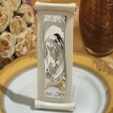 Elegant scroll design ivory icon