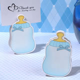 Blue Baby Bottle Place Card Holder