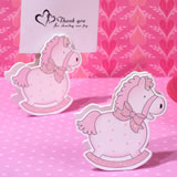 Precious Pink Rocking Horse Place Card Holder