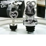 Two hearts are better than one Wine pourer, Bottle stopper combination.