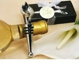Elegant Chrome Calla lily wine stopper.
