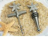 Beach theme Starfish Wine Opener, Wine stopper set