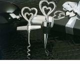 Two hearts are better than one Wine opener, Bottle stopper combination.