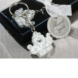 Queen for a day Sparkling Tiara keychain favor.