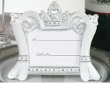 Queen for a day Sparkling Tiara place card frame favors.