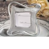 Stylish and chic silver place card frame favor