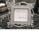 Elegant silver place card frame favor