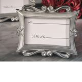 Elegance silver epoxy photo frame favor