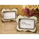 Stylish ivory epoxy place card frame
