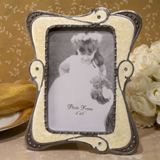 Chic ivory epoxy photo frame favor