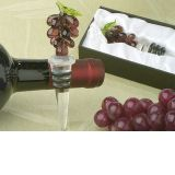 Murano art deco collection grapes wine stopper.