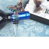Murano art deco collection butterfly wine stopper.