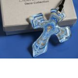 Murano art deco collection glass cross