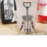 Murano art deco collection wine opener with lavender beads