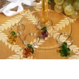 Murano art deco collection grapes design wine charms