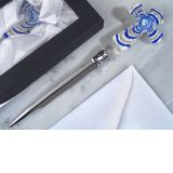 Murano art deco collection letter opener blue glas