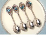 Murano art deco 4 piece demi set
