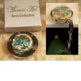 Murano art deco collection hand bag holder