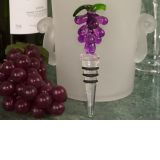 Murano art deco glass grapes design stopper