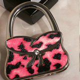 Stylish Handbag holder pink and black pattern
