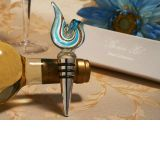 Murano art deco collection golden blue Swirl design wine stopper