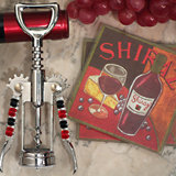 Murano collection Red wine design Coaster and bottle opener set